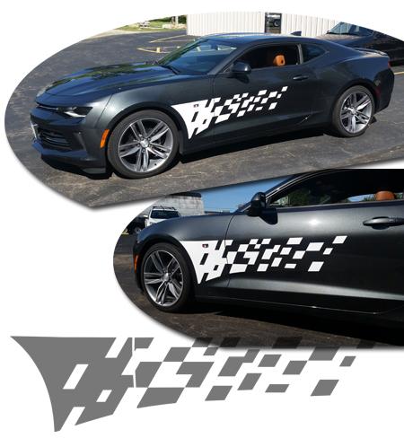 Chevrolet Camaro Body Side Graphic Kit 6
