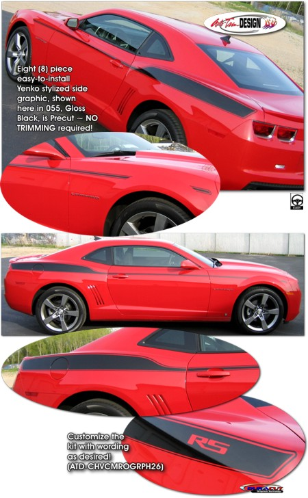 Yenko Style Side Graphic Kit 1 For Chevrolet Camaro