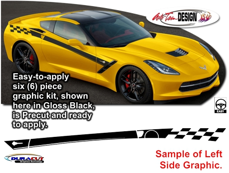Chevrolet C7 Corvette Paddock Body Side Graphic Kit
