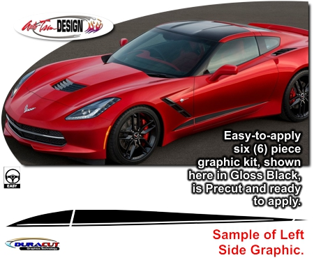 Chevrolet C7 Corvette Body Side Graphic Kit 1