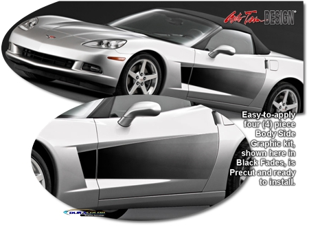 Chevrolet Corvette C6 Body Side Fade Graphic Kit 1 Grand