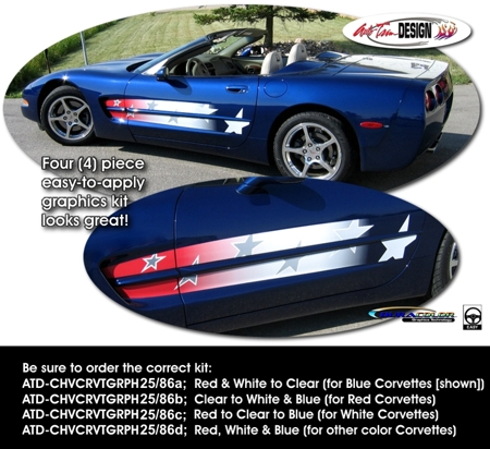 Patriotic Body Side Graphic 1 For Chevrolet C5 Corvette