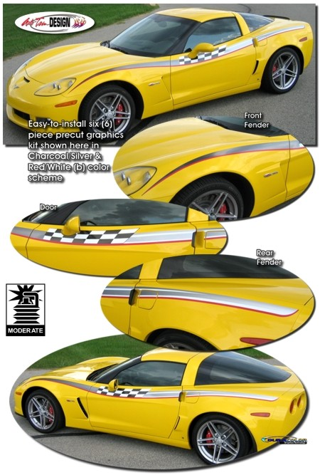 Body Side Race Graphic Kit 1 for Chevrolet C6 Corvette