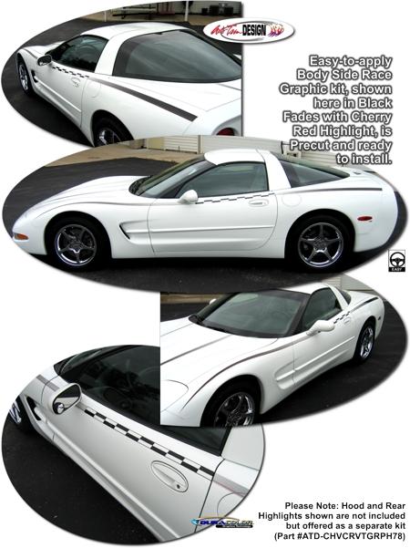 Chevrolet C5 Corvette Body Side Race Graphic Kit 2