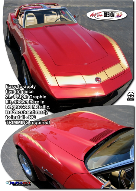 Paint Protection Film >> Chevrolet C3 Corvette ZL-1 Style Graphic Kit