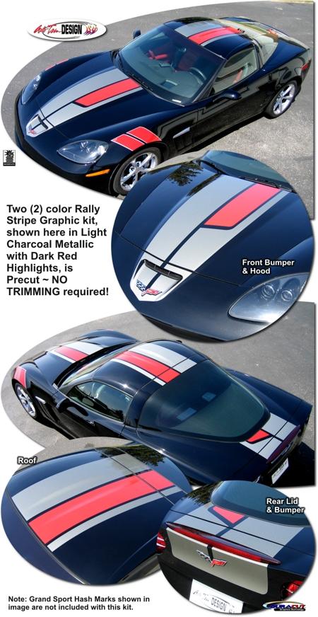 Rally Stripe Kit 5 For Chevrolet C6 Corvette
