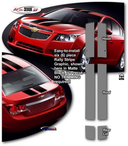 Rally Stripe Kit 1 For Chevrolet Cruze