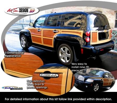 Wood Panel Graphics Kit 1 For Chevrolet Hhr