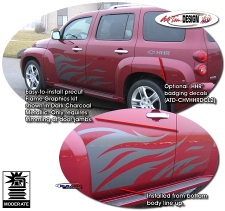 Body Side Flame Graphic Kit 1 For Chevrolet Hhr