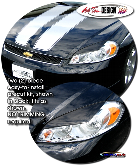 Headlight Eyelid Decal Kit 1 For Chevrolet Monte Carlo