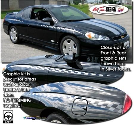 Checker Flag Body Side Graphics Kit 1 For Chevrolet Monte