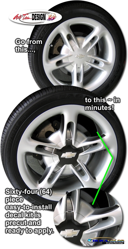 Wheel Graphic Decal Kit 2 For Chevrolet Ssr