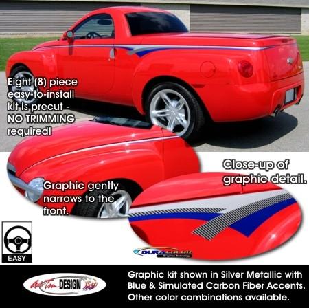Body Side Graphics Kit 1 For Chevrolet Ssr