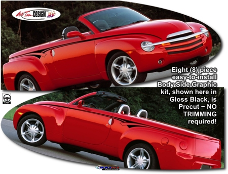 Chevrolet Ssr Body Side Graphic Kit 5
