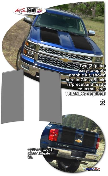 Chevrolet Silverado Rally Stripe Graphic Kit 2