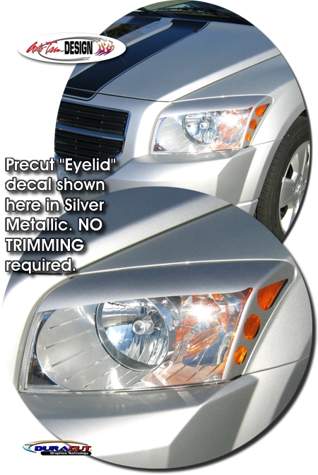 Red Window Tint >> Headlight Eyelid Decal Kit 2 for Dodge Caliber