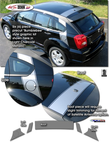 Bumblebee Style Rear Body Graphic Kit For Dodge Caliber