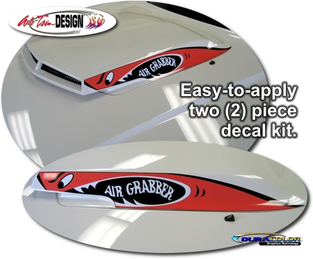 Dodge Challenger Hood Scoop Decal Kit 1 Air Grabber Gtx