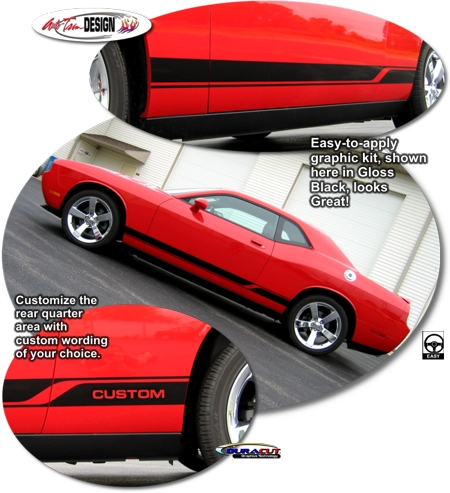 Dodge Challenger Body Side Graphic Kit 3