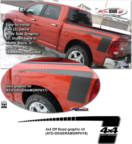 Body Side Graphic Kit 4 For Dodge Ram Truck