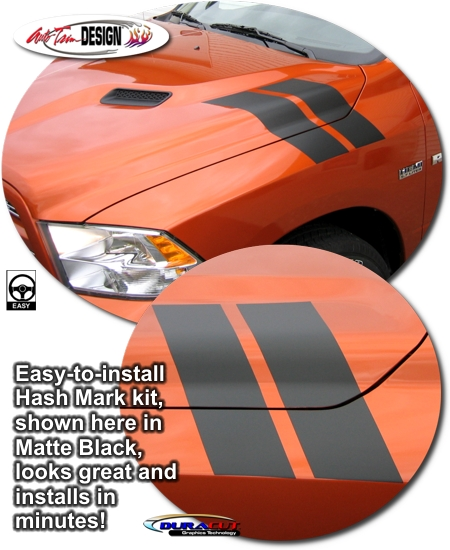 Precut Hash Mark Kit For Dodge Ram Truck Sport Performance