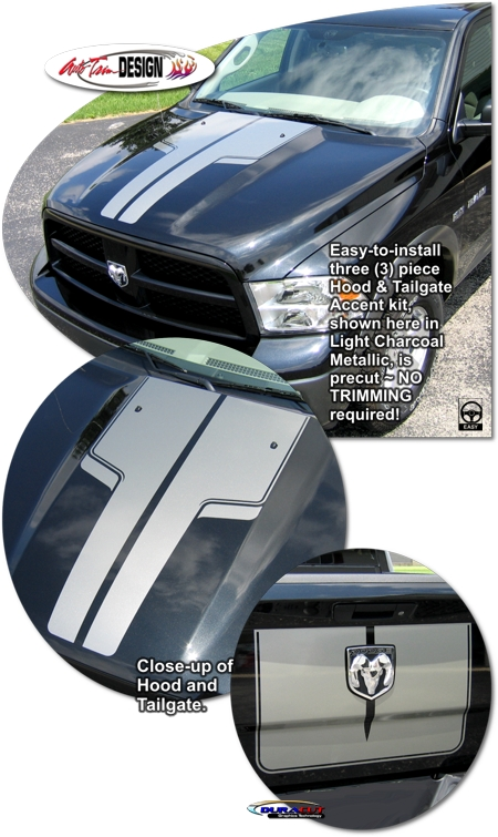 Hood And Tailgate Accent Kit 3 For Dodge Ram Truck