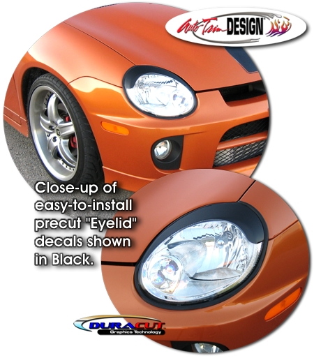 Headlight Eyelid Decal Kit 2 For Dodge Neon Srt 4