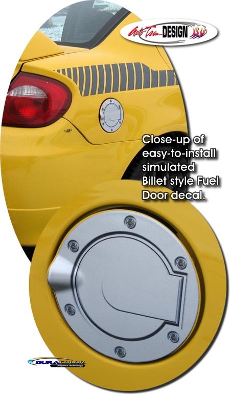 Simulated Billet Fuel Door Decal 1 For Dodge Neon Srt 4