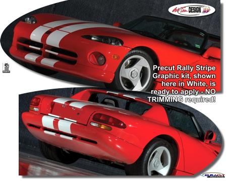 Dodge Viper Rally Stripe Graphic Kit 6 1994 1995