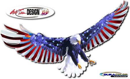 Patriotic Eagle Graphic Kit 1 Usa Flag America