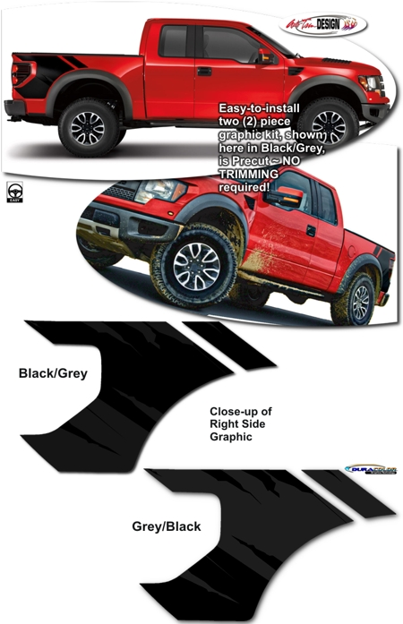 Body Side Graphic Kit 2 For Ford F 150 And F 150 Raptor Svt