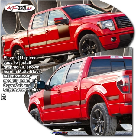 Ford F 150 Body Side Graphic Kit 4 Fx4