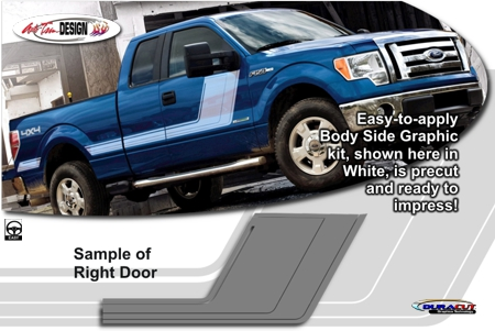 Ford F 150 Body Side Graphic Kit 6 Tremor Style Quake