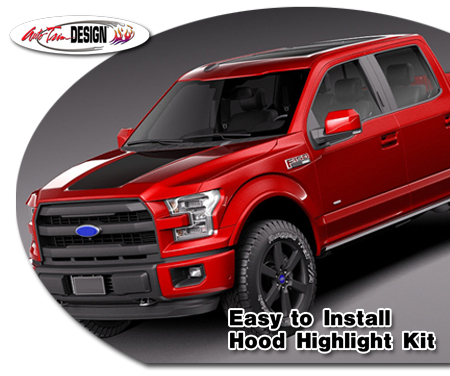 Ford F 150 Hood Enhancement Graphic Kit 14