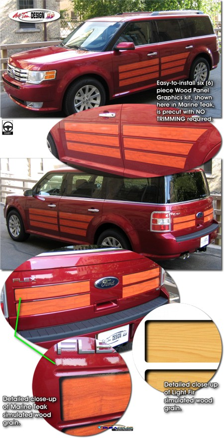 Wood Panel Graphics Kit 1 For Ford Flex