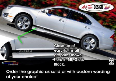 Ford Fusion Body Side Graphic Kit 1