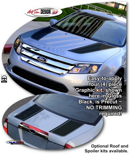 Ford Fusion Rally Stripe Graphic Kit 1
