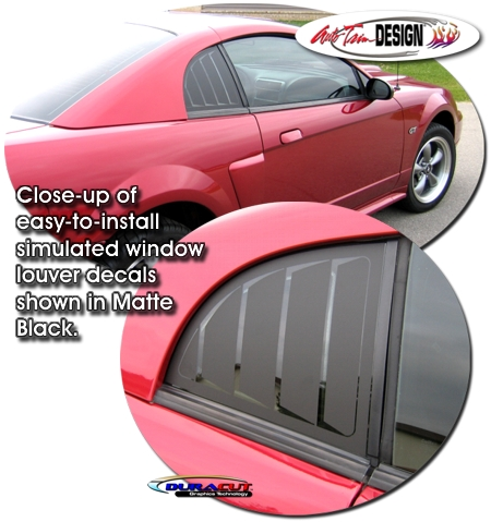 Simulated Window Louver Decal Kit 2 For Ford Mustang