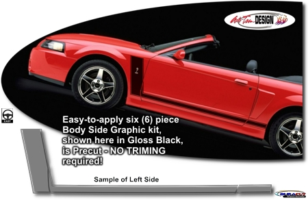 Ford Mustang Hockey Stick Body Side Graphic Kit 21