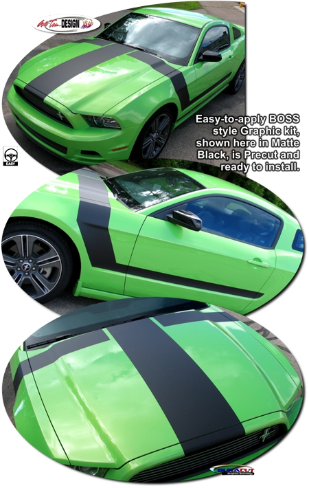 Ford Mustang Boss Style Graphic Kit 2