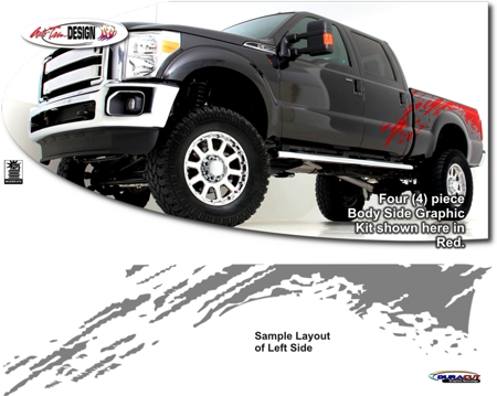 Ford Super Duty Pickup Raptor Style Body Side Graphic Kit