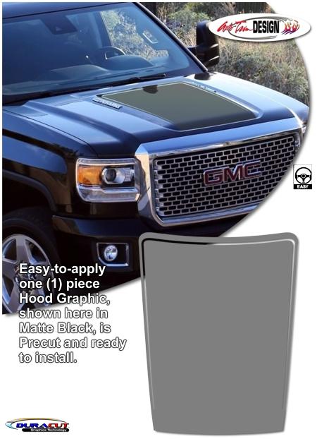 Red Window Tint >> GMC Sierra 2500 and 3500 HD Hood Enhancement Graphic Kit 1
