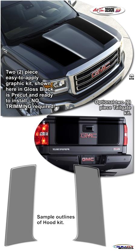 Gmc Sierra 1500 Rally Stripe Graphic Kit 1