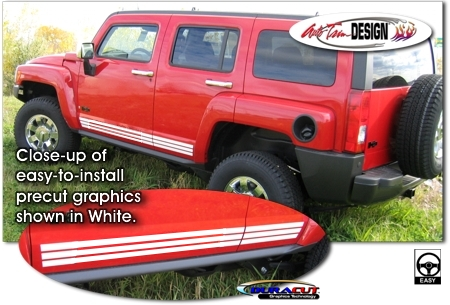 Hummer H3 And H3t Body Side Graphic Kit 1