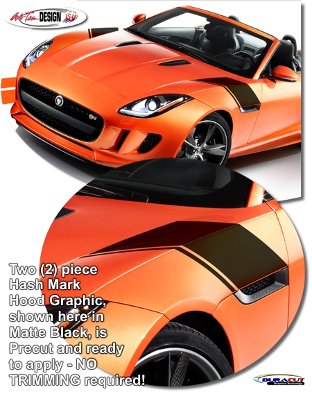 Jaguar F Type Hood Decal Kit T2r5503lbn T2r5503men