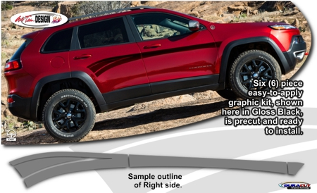 Jeep Cherokee Body Side Graphic Kit 2