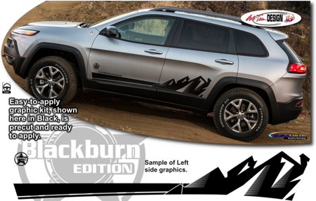 Jeep Cherokee Body Side Graphic Kit 3 Blackburn Edition