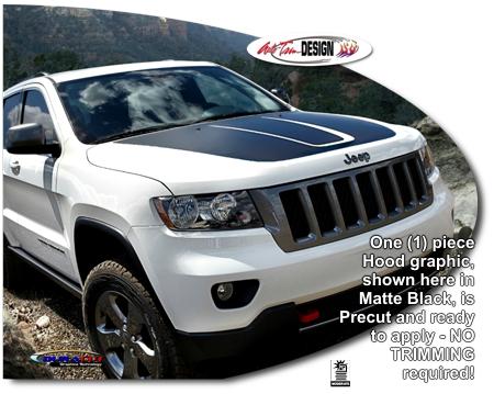 Trailhawk Style Jeep Grand Cherokee Hood Enhancement