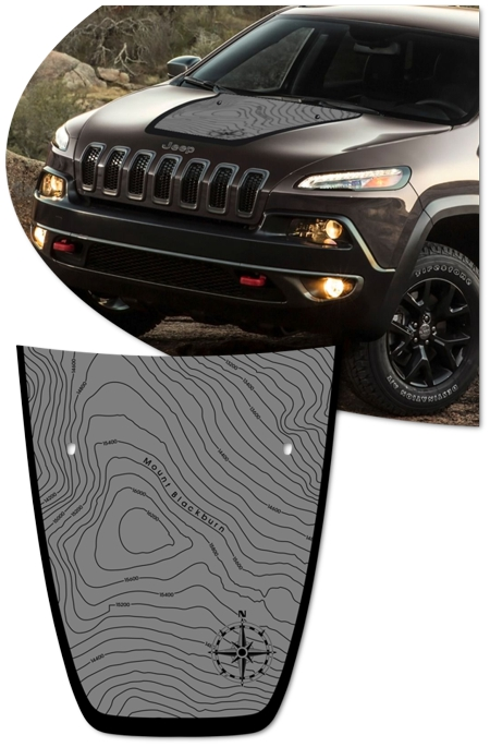 Jeep Cherokee Hood Graphic Kit 2 Blackburn Edition
