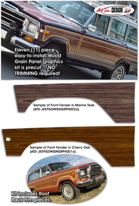 Jeep Grand Wagoneer Wood Panel Graphic Kit 1